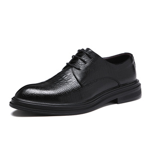 Image 2 - Formele Schoenen Heren Flats Schoenen Casual Britse Stijl Mannen Oxfords Party Trouwjurk Schoenen Voor Mannen