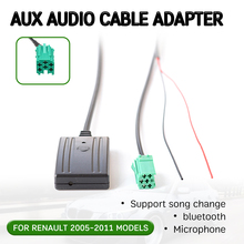 bluetooth Aux Receiver Cable Adapter for Renault Clio,Kangoo,Megane 2005-2011 Hands-free Hifi Aux Head Unit Interface bluetooth hands free adaptor car integrated usb aux jack interface for volkswagen touran 2003 2011