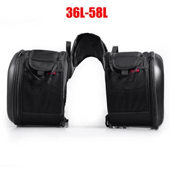Nowe motocyklowe wodoodporne wyścigi wyścigowe kask Moto torby podróżne walizki sakwy + jedna para płaszcza przeciwdeszczowego tanie i dobre opinie oezrefit CN (pochodzenie) 0inch high quality synthetic leather Torby na siodełko 1 8kg waterproof FD-0016 Black Single Size Only