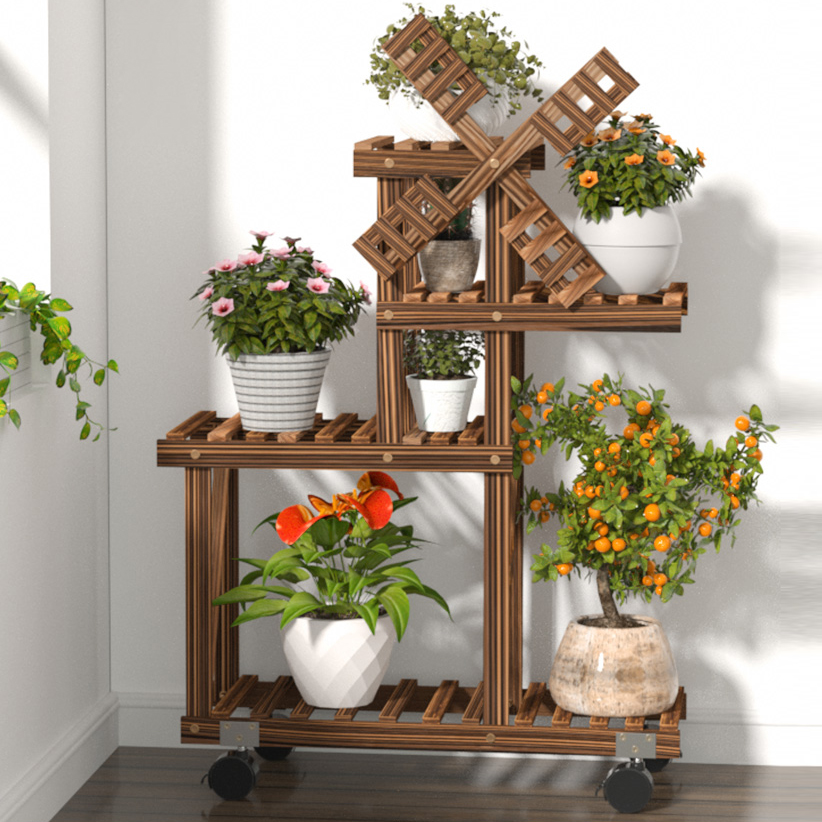 Flower Rack Plant Stand Multi Wood Shelves Bonsai Display Shelf Indoor Flower Stands Outdoor Indoor Yard Garden Patio Balcony Buy At The Price Of 49 99 In Aliexpress Com Imall Com