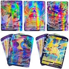 Juego de cartas de Pokémon francés, juego de batalla GX brillante Vmax TAG TEAM, 450 Uds.
