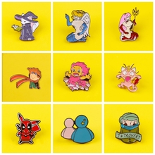 Anime metal Badge Backpack Jeans Clothes Lapel Pins and Brooches Little Prince Princess Pin Zinc Alloy Badges Lapel Pins Friends prajna halloween pins badges for clothes on backpack stripe pink purple pumpkin pin badge zinc alloy cartoon badges metal
