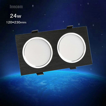 2018 Special Offer Rushed 3pcs 24w Cree Led For Square Downlight Cob Recessed Ceiling Down Light Lamp For Home