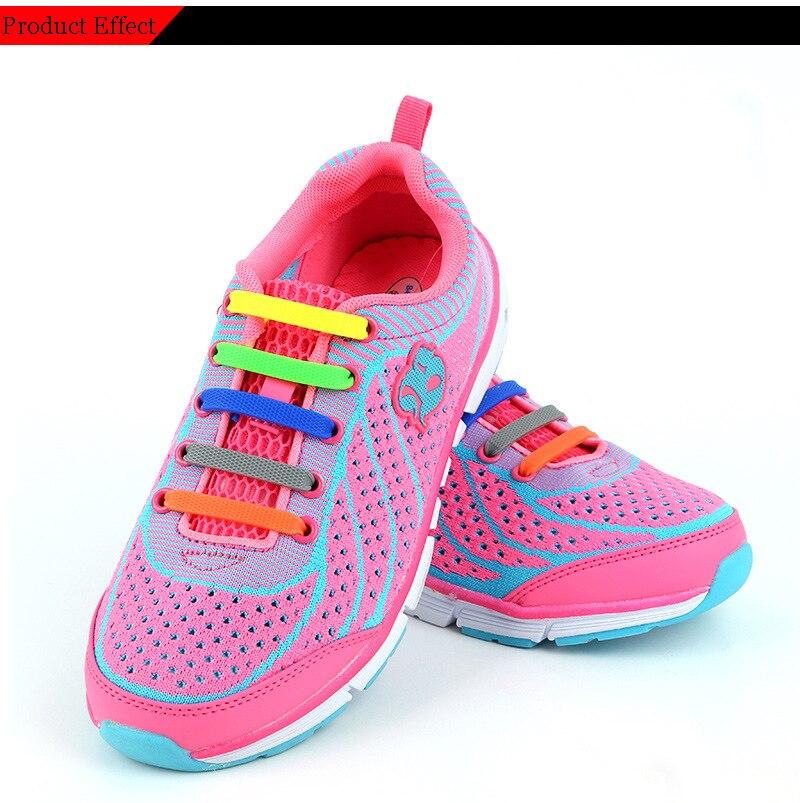 Children Silicone Shoelaces Elastic Shoe Laces Special No Tie Shoelace Men Women Lacing Rubber Kids Sneakers Quick Shoe Lace (12)