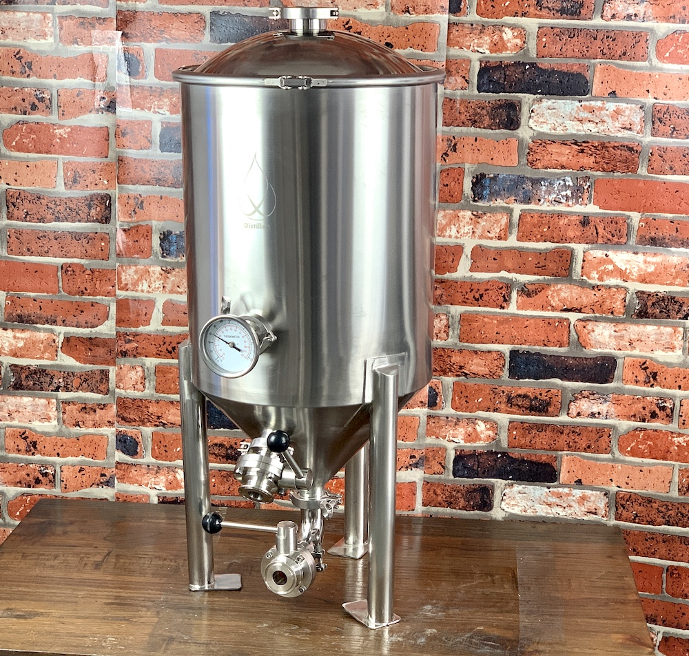 50L Conical Fermenter 0,5Bar ,  Pot, Boiler, Tank,  With Bell Lid  Distillation, Rectification, Sanitary Steel 304