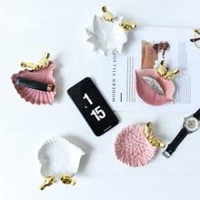 Мини-птица декоративная тарелка керамическая Ювелирная витрина кольцо браслет-держатель Конфета для закусок лоток для хранения Свадебный декор подарки