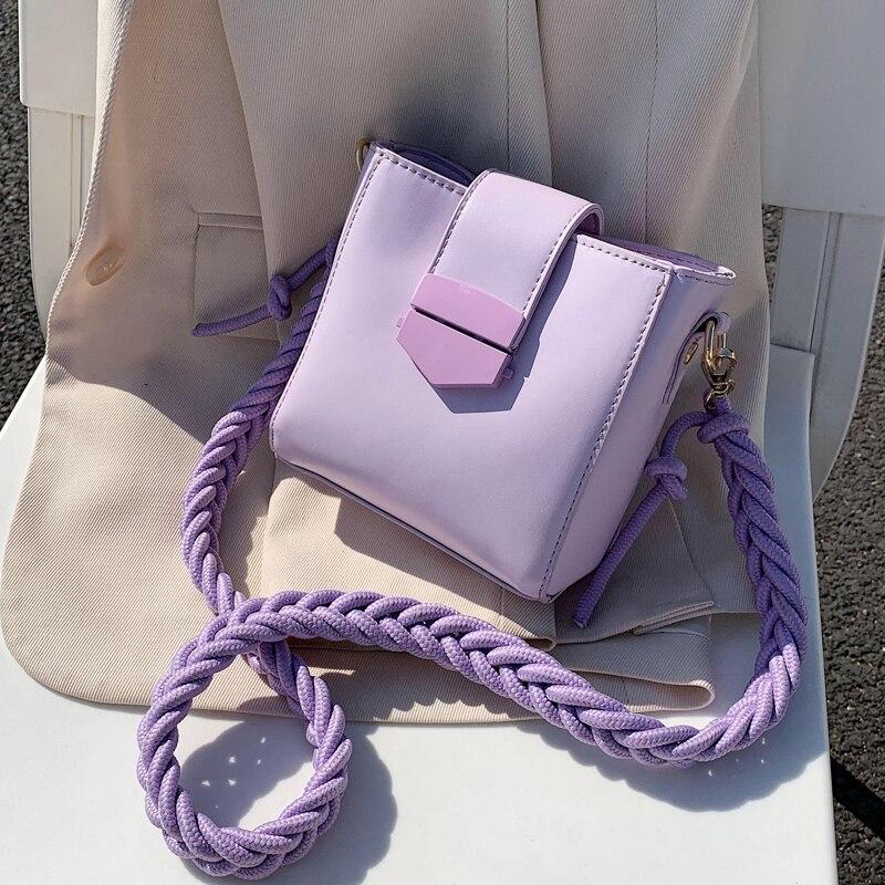 Weave Shoulder Belt Crossbody Bags For Women 2020 Summer Sweet Mini Shoulder Bags Lady Travel Handbags Cross Body Bag