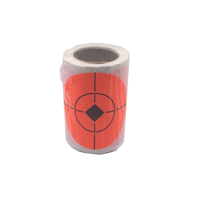 100 Roll Shooting Target Paster High Quality Shooting Target Bullseye Splashing 7.5cm Reactive Sticker Shooting Target Sticker