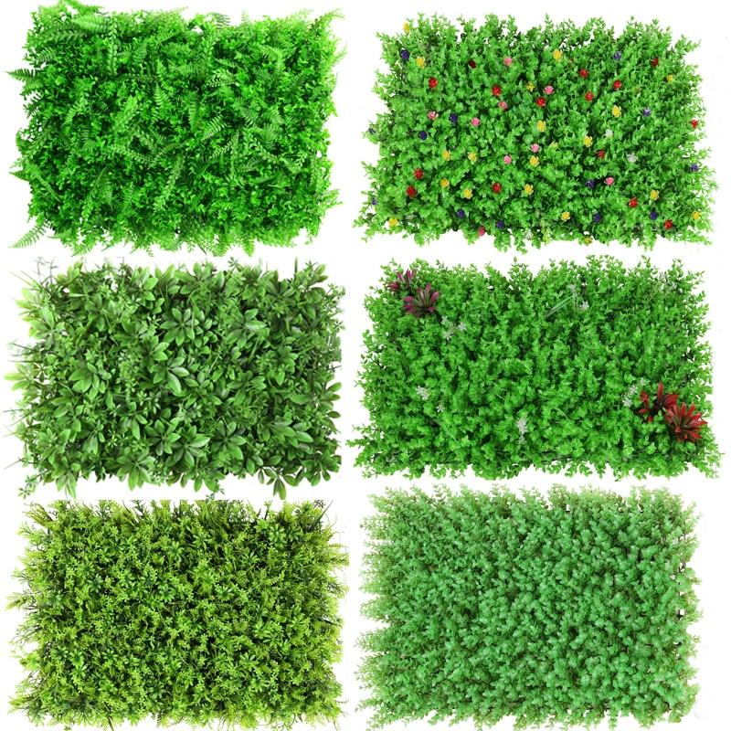 60*40cm Artificial Plant Lawn DIY Background Wall Simulation Grass Leaf Wedding Home Decor Green Eucalyptus Artificial Lawn