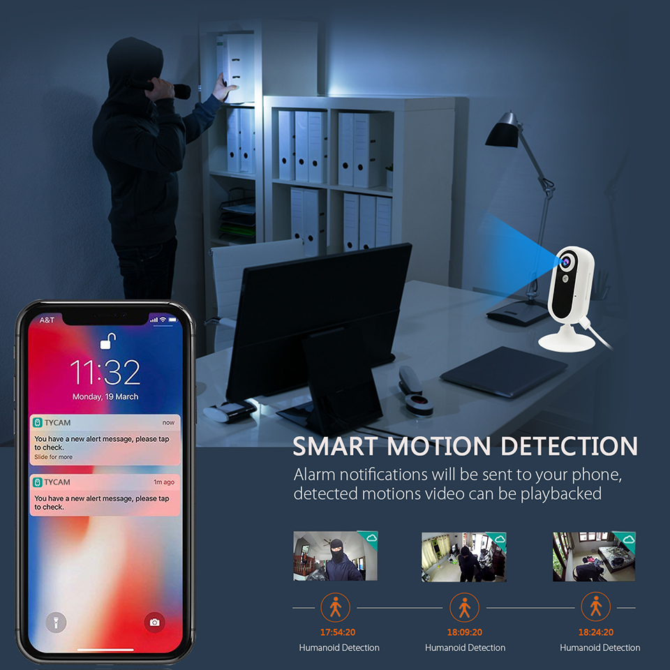Image 4 - Jimi New GM01N 3G Security Camera 30 Days Free Cloud Storage Two Way Talk Motion Detection Alert Zone Setting Clear Night Vision-in Surveillance Cameras from Security & Protection