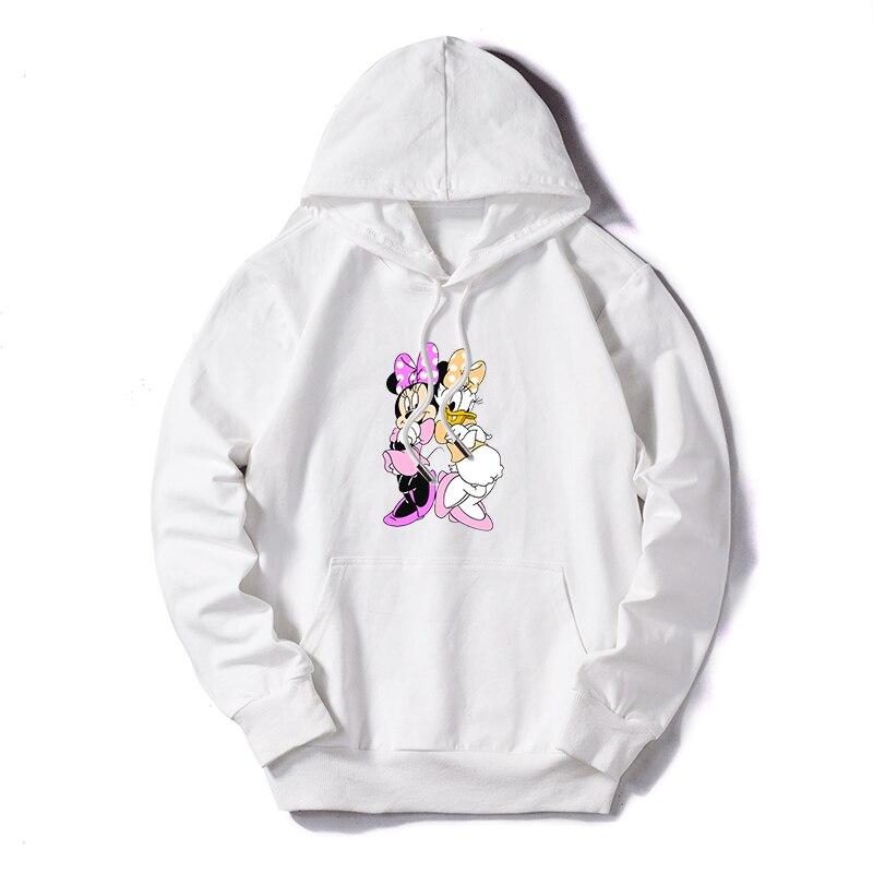Hoodies Mens Long Sleeve Sweatshirt Autumn Winter Plus Size Cartoon Print Pocket Pullover Men Hoodie Warm Hooded Sweatshirt 2019