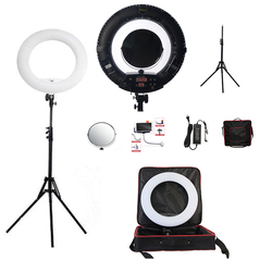 Yidoblo FA-480 BLUETOOTH APP Control Ring Light LED Camera Photo Studio Ring Lamp Photography Touch Screen Ring lamp 2800K-9900K