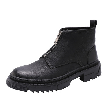 Moda Chelsea Boots dla mężczyzn botki za kostkę Business Casual buty biurowe wiosenny i jesienny nowy Casual skórzane buty męskie buty tanie i dobre opinie Ktip up CN (pochodzenie) Skóra Split RUBBER Pasuje prawda na wymiar weź swój normalny rozmiar Podstawowe Stałe Dla dorosłych