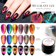 MEET ACROSS 9D Galaxy Magnetic Gel Nail Polish Long Lasting Varnish 5ml Shining Cat Eye Art Soak Off UV LED
