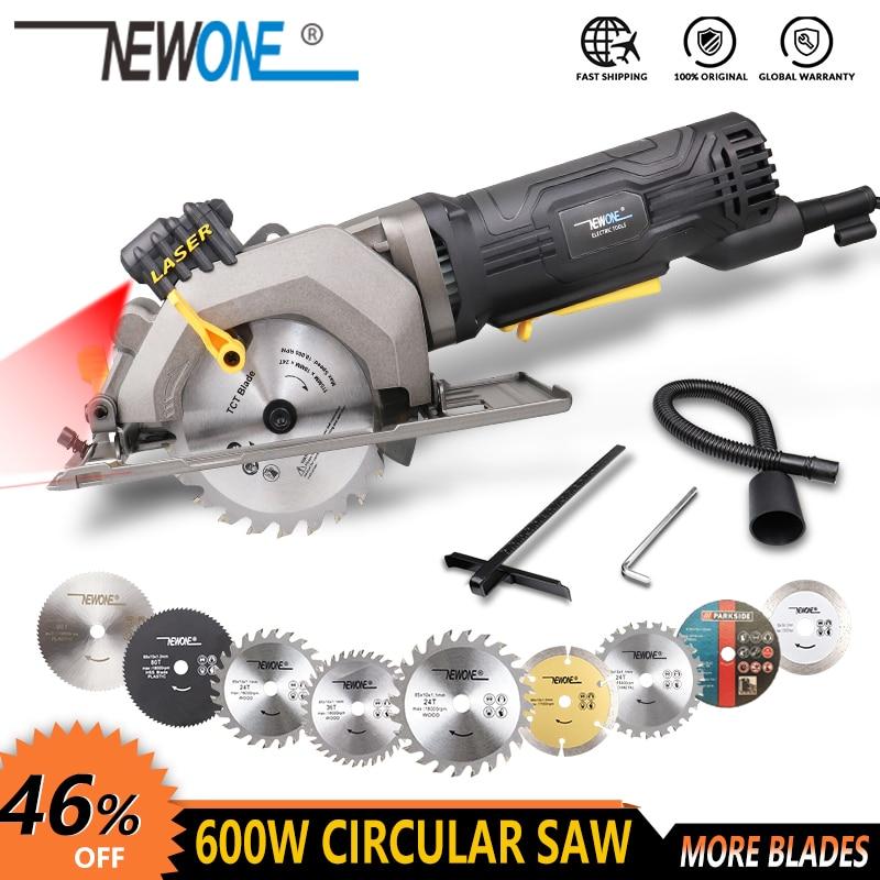 NEWONE 600W/705W Electric Power Tool Electric Mini Circular Saw With Laser, Electric Saw For Cutting Wood,PVC Tube, Metal, Tile