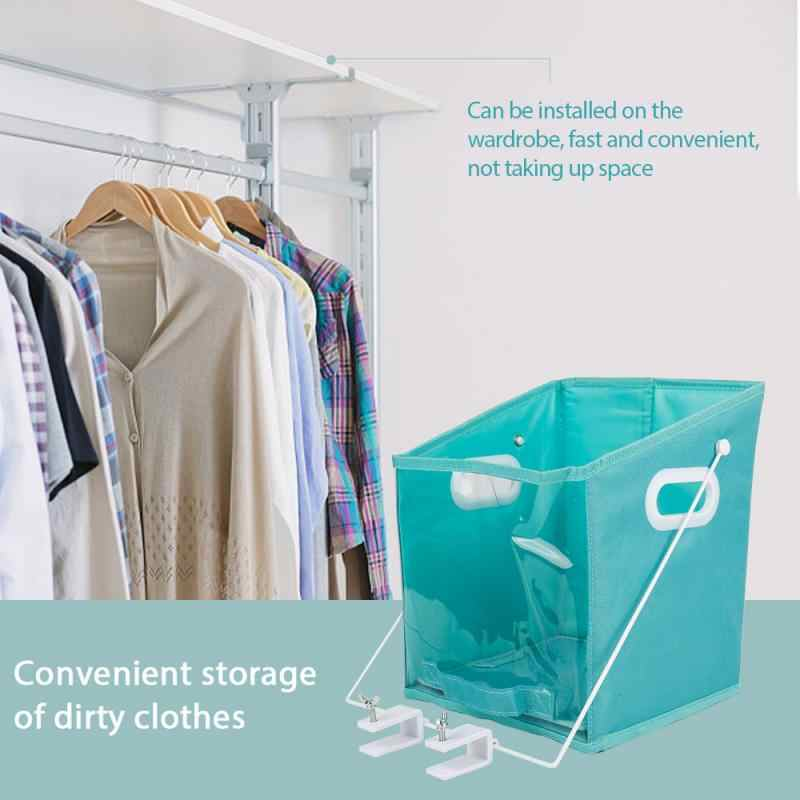 Closet Caddy Dirty Clothes Storage Box Organizer Basket Pull Down Shelf Storage System Foldable Laundry Organiser Bedroom Closet Aliexpress