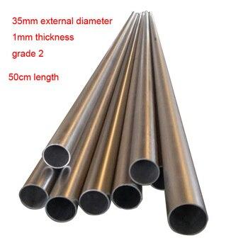 35mm ta2, Grado 2, tubo de escape de coche reparación titanium Aleación de tubo delgado-Tubo de titanio para pared titanium tubo ti tubo de escape de automóviles de modificación