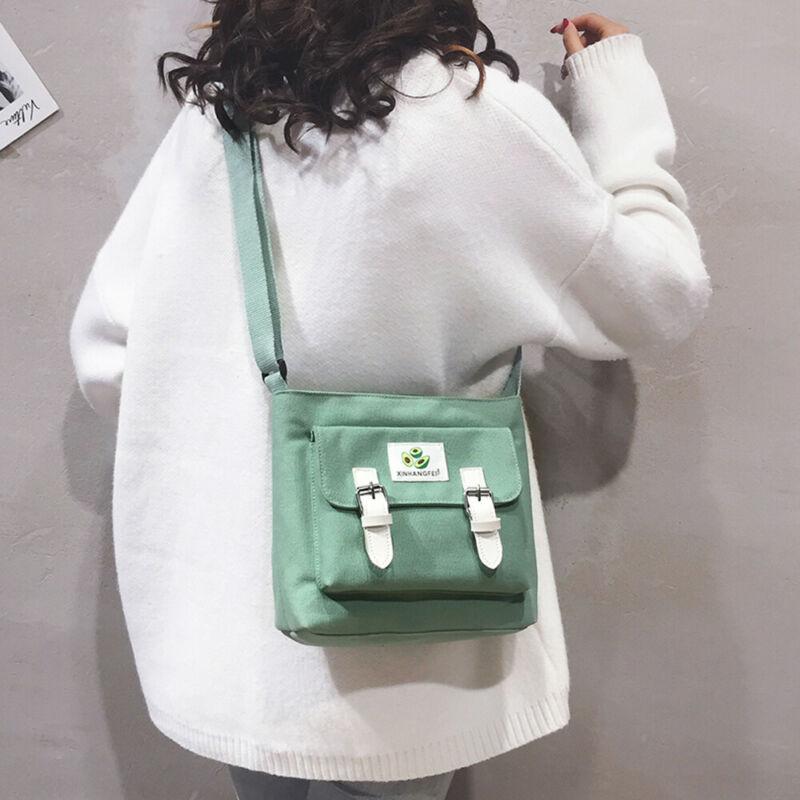 Women Girls Small Canvas Handbag Shoulder Messenger Bag Satchel Tote Purse Nice
