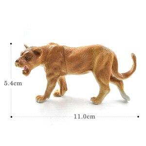 Image 3 - Sztuczny lew las model zwierzęcia realistyczne figurka home decor figurka prezent edukacyjny dla dzieci plastikowa zabawka