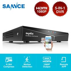 SANNCE 8CH 5 IN1 1080N CCTV DVR Digital Video Recorder Sistema de Vigilância Home Security H.264 Full HDMI P2P Acesso Remoto onvif