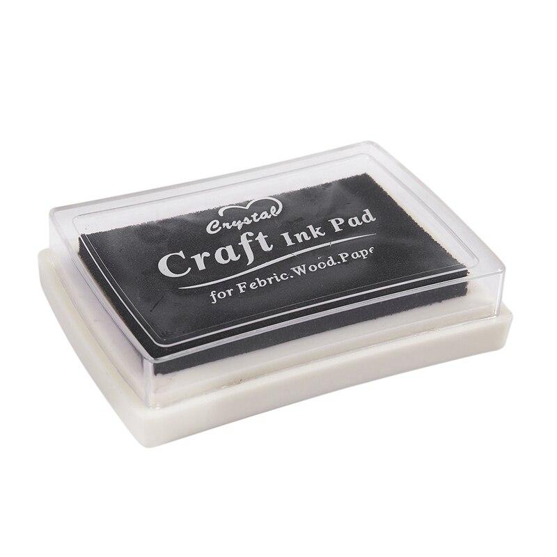 Чёрная чернильная Подушка Inkpad, резиновый штамп, отпечаток пальца, нетоксичный детский Сейф
