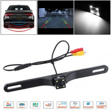 CMOS Waterproof Car Rear View Reverse Backup Square Camera Night Vision Parking Reversing Assistance with 4 LED  New free shipping free shipping brand new 4 pin 800tvl cmos ir night vision waterproof car rear view reverse backup camera for