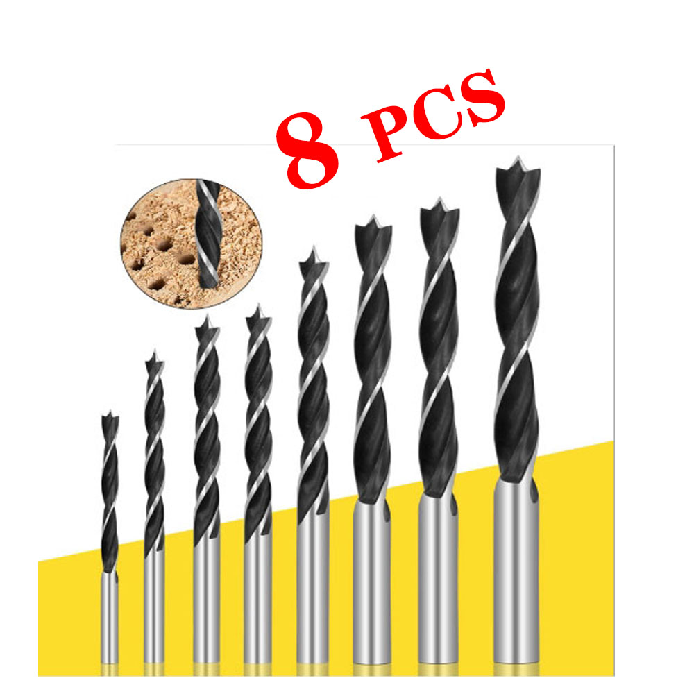 8Pcs Twist Drill Bits Set High Carbon Steel Metal Wood Drilling Tools For Woodworking Power Tools 3/4/5/6/7/8/9/10mm