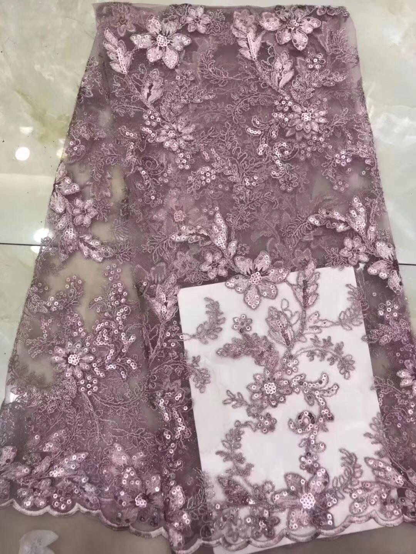 Verbazingwekkend Roze 2019 Afrikaanse Kralen Tulle Lace Stof Hoge Hoge Kwaliteit JM-46