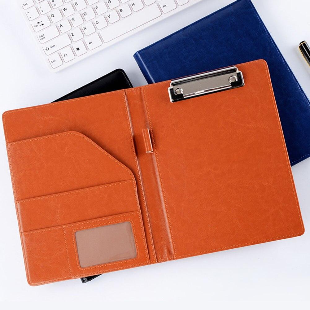 Carpeta de documentos A5, carpeta de documentos, tabla de Clip, suministros para oficina, finanzas, escuela, cuero de imitación, documentos de oficina, protección