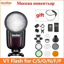 Godox V1 Flash V1S/V1N/V1C Ttl Li-Ion Ronde Hoofd Camera Speedlight Flitser Voor Sony/Nikon/canon/Fujifilm/Olympus