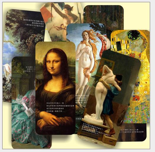 10 Pcs/Set World Famous Painting Retro Cardboard Bookmark Mona Lisa Book Holder Gift Stationery