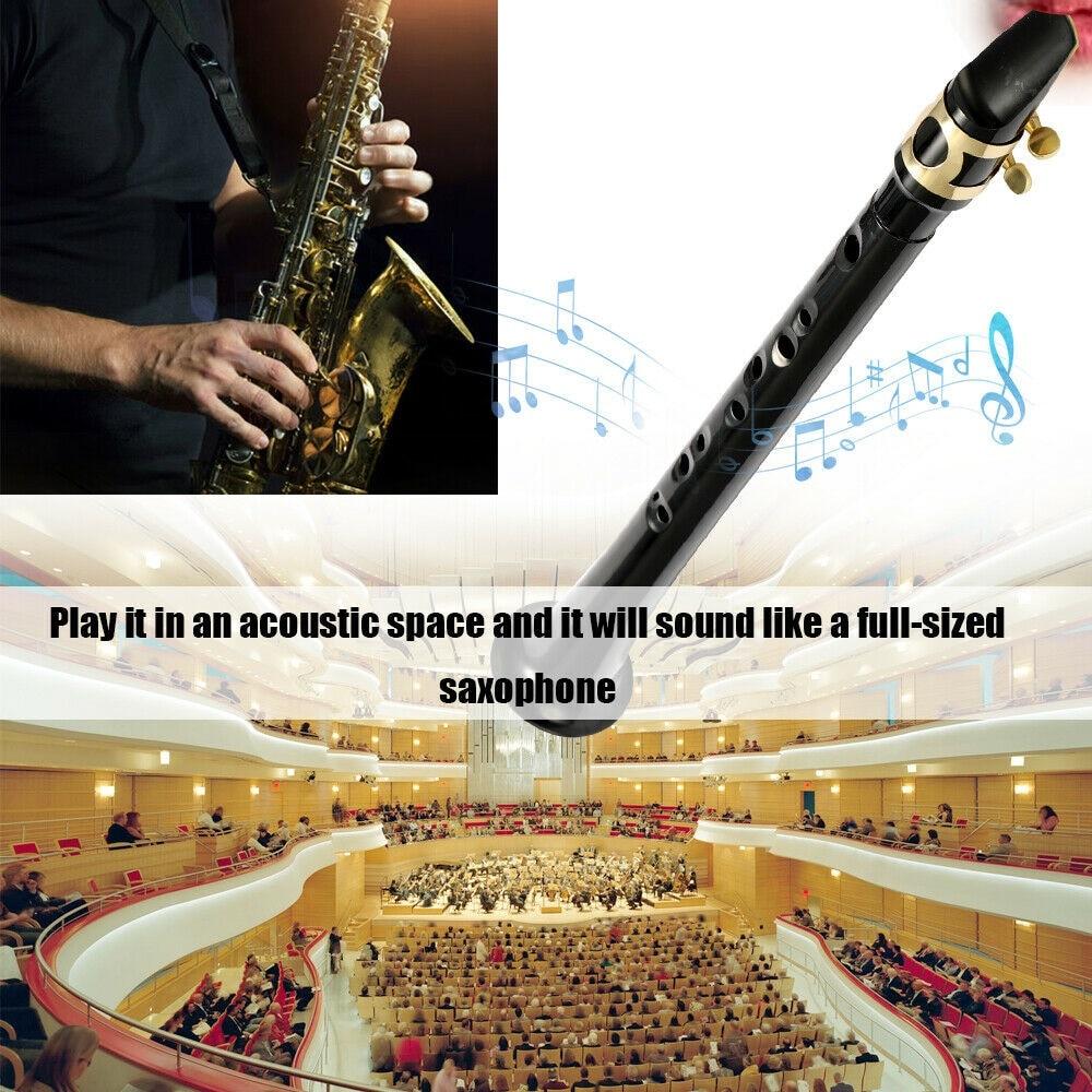 Купить с кэшбэком Free Shipping Black Pocket Sax Mini Portable Saxophone Little Saxophone With Carrying Bag Woodwind Instrument As Birthday Gift
