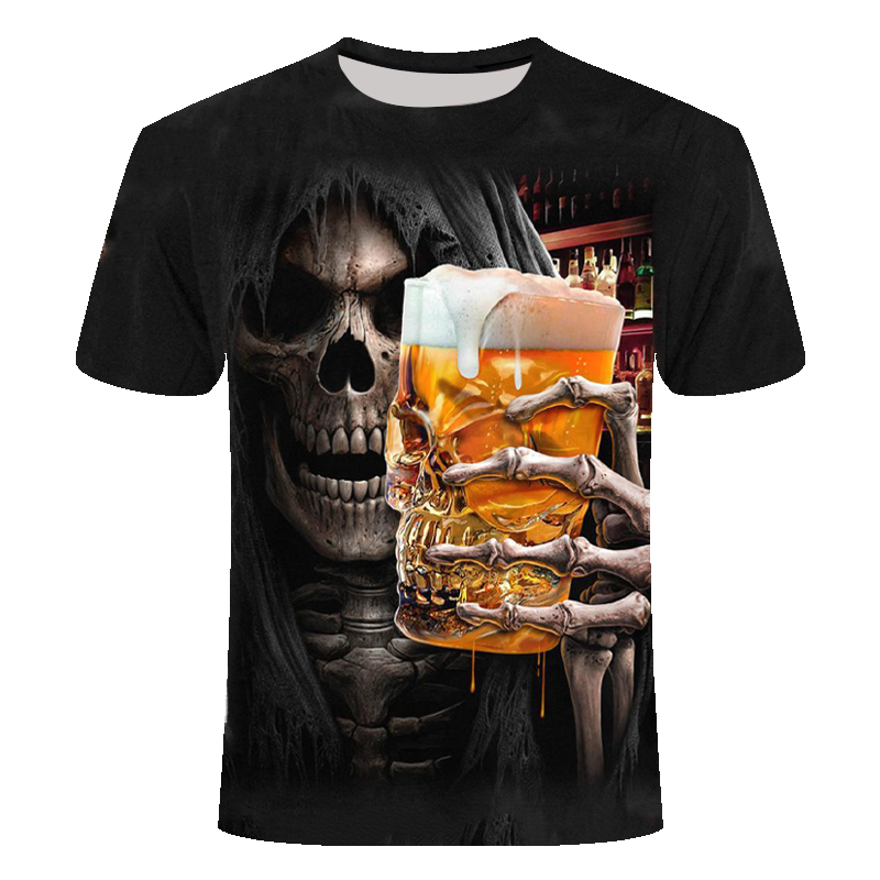 2019 Grim Reaper Tshirt Short Sleeve Summer Hipster With Skull 3d New Funny For Men / Women T-shirts Anime Homme Short Sleeve6XL