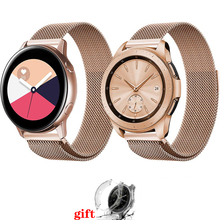 watch case+band for Samsung galaxy watch active 46mm S3 frontier strap milanese loop watchband 20mm 22mm stainless steel belt laforuta milanese loop strap for gear s3 frontier classic watch band 22mm 20mm 18mm stainless steel mesh samsung galaxy 46mm