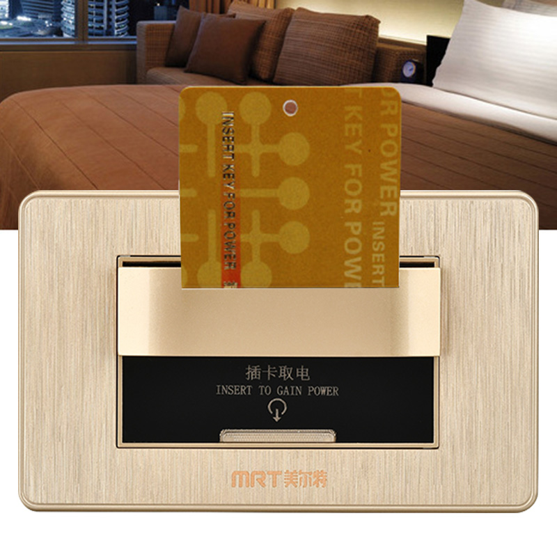 86mm Rfid Card Switch Panel Smart Induction Timer Delay Energy Saving Hotel Use