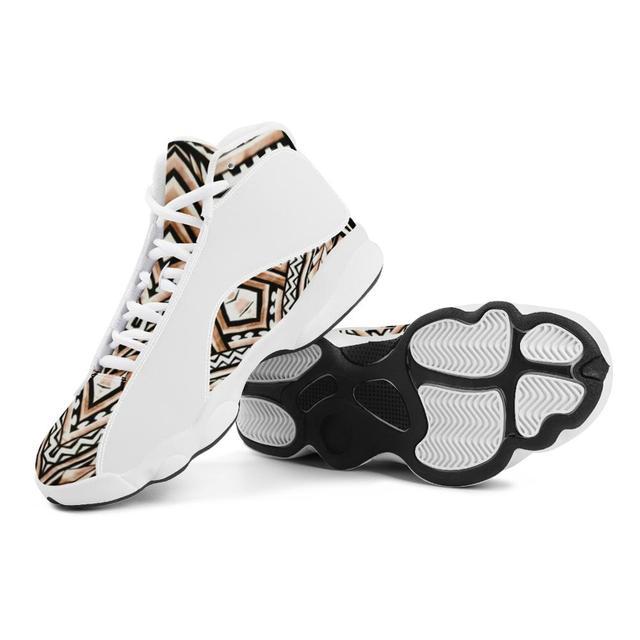 Diseño de lujo de la Polinesia Samoa tribu estilo niño zapatillas de deporte Zapatos de bola Logo de equipo deportivo de Baloncesto de los hombres zapatos deportivos 4