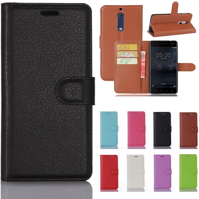 5.2 Inch Smartphone Business Wallet Case For Nokia 5 Case Nokia5 Retro Flip Book Leather Cover For Nokia 5 Phone Fundas