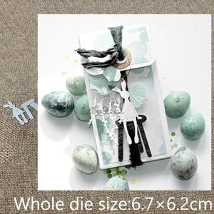 New Design Craft Metal stencil mold Cutting Die bunny chair decoration scrapbook die cuts Album Paper Card Craft Embossing