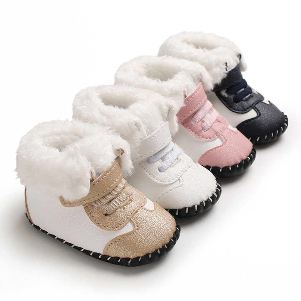 Kids Shoes Sneakers Soft-Sole Newborn Baby-Girls-Boys Solid -G30