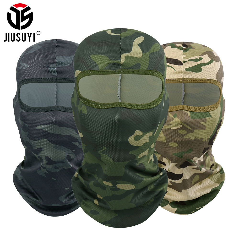 Multicam Tactical Balaclava Cap Camouflage Military Full Face Shield Hats  Airsoft Paintball Bicycle Helmet Liner Men Head Mask
