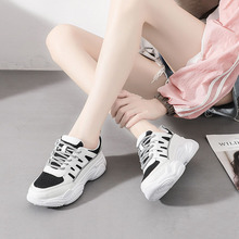 2019 Autumn Harajuku Fashion Women Sneakers Height Increasing Casual Walking Chunky Breathable Stability Running Shoes