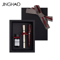 Luxury Christmas Gift Fountain Pen Set for Friends and Families Luxury Metal M Nib 0.5mm Student Metal Ink Pens with 15ml Ink