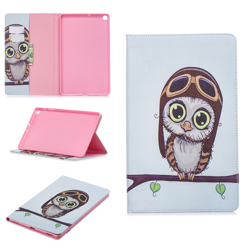 For Samsung Tab A 10 1 2019 Case Smart Painted Leather Stand Cover For Samsung Galaxy Tab A 10.1 2019 SM-T510 SM-T515 Funda
