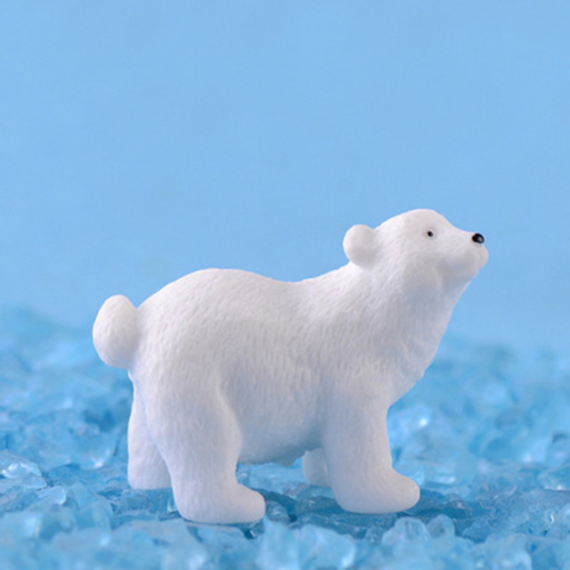Modern nordic lovelyIns mini style polar bear home decoration living room accessories miniature fairy garden  resin figurine 5
