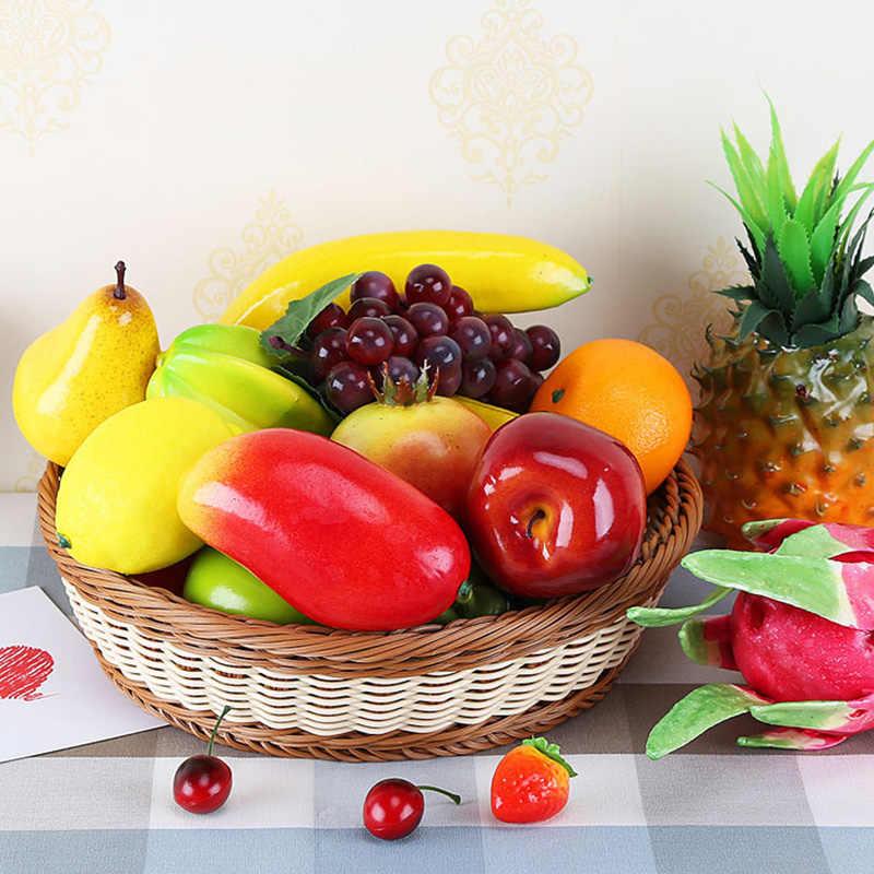 人工リンゴ偽のフルーツ家の装飾シミュレーションオレンジ飾りクラフト食品写真の小道具ホーム