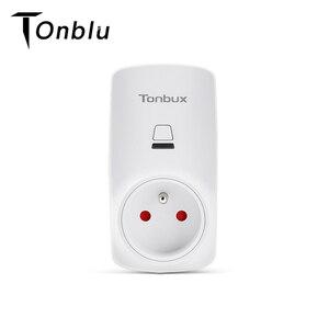 Image 1 - Tonbux AU/FR/EU/UK Spina Smart Plug Wifi HA CONDOTTO LA Luce Display Google Casa Accettare Alexa di Controllo assistente Intelligente Presa Di Alimentazione