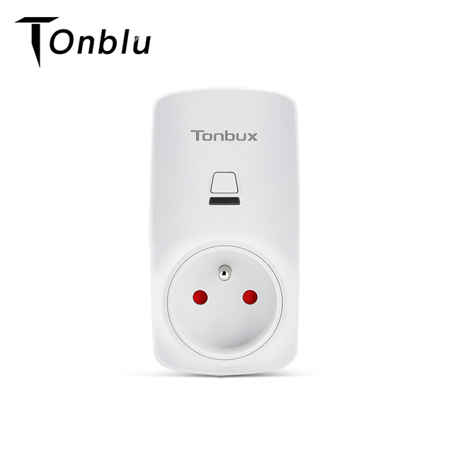 Tonbux AU/FR/EU/UK Spina Smart Plug Wifi HA CONDOTTO LA Luce Display Google Casa Accettare Alexa di Controllo assistente Intelligente Presa Di Alimentazione