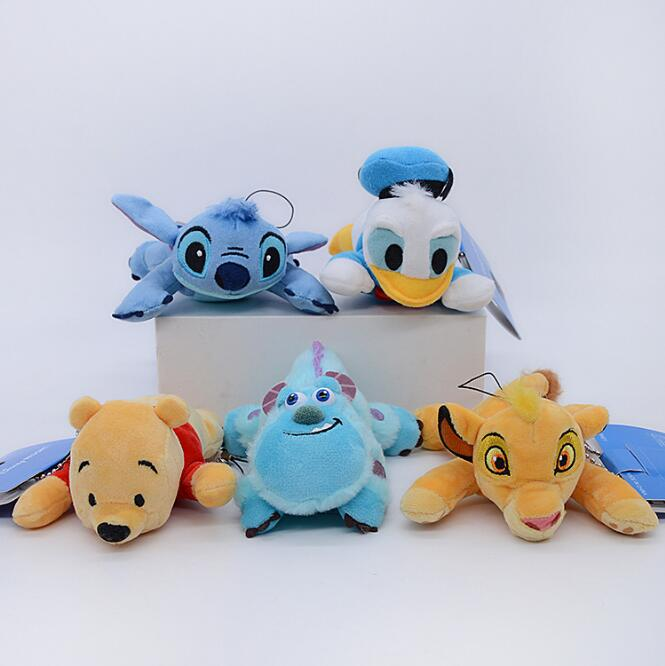 Genuine Disney Simba The Lion King Stitch Donald Duck Winnie Bear Children Toy Hot Sale Kids Plush Doll Birthday Christmas Gift