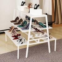 Clothing store display shelf Island shelf bag display cabinet multi layer shoe bag display stand creative water table display