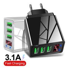 Cewaal 3 порта USB зарядное устройство EU US Plug Светодиодный дисплей 3.1A Быстрая зарядка смарт-зарядное устройство для мобильного телефона для iphone samsung Xiaomi Tablet